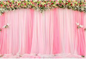 curtain_w__roses__gerbs__lilies__birds__pearls
