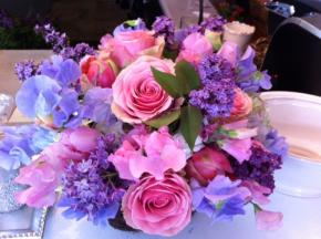 lilac__roses__sweet_pea__tulips_in_moss_